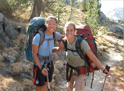 Connie Yang, left, and Suzanne Turell of York are experienced hikers.