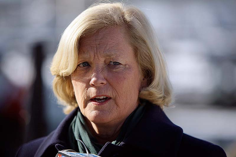 U.S. Rep. Chellie Pingree, D-Maine, was a passenger on a water taxi that collided with a pleasure boat Saturday night in Portland Harbor, injuring three people. Her husband, S. Donald Sussman sustained a head injury and numerous cuts and bruises in the crash.
