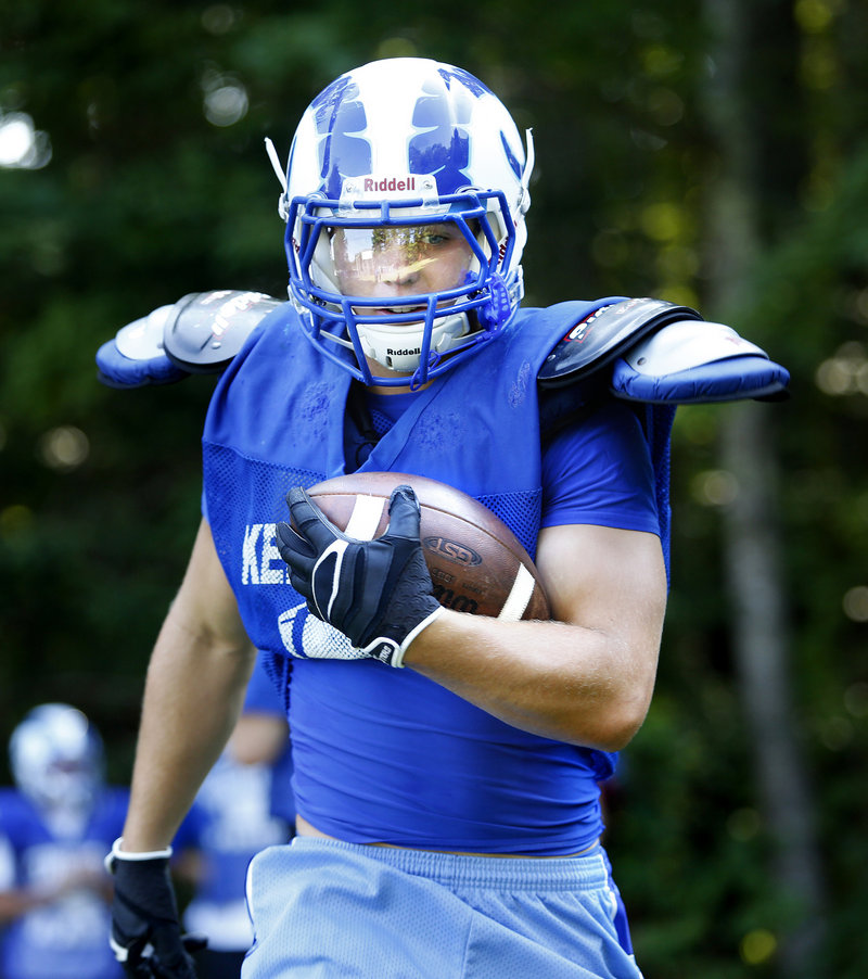 Running back Nicco DeLorenzo says Kennebunk is ready for a successful season in Western Class B after earning a playoff berth last year in Western Class A.
