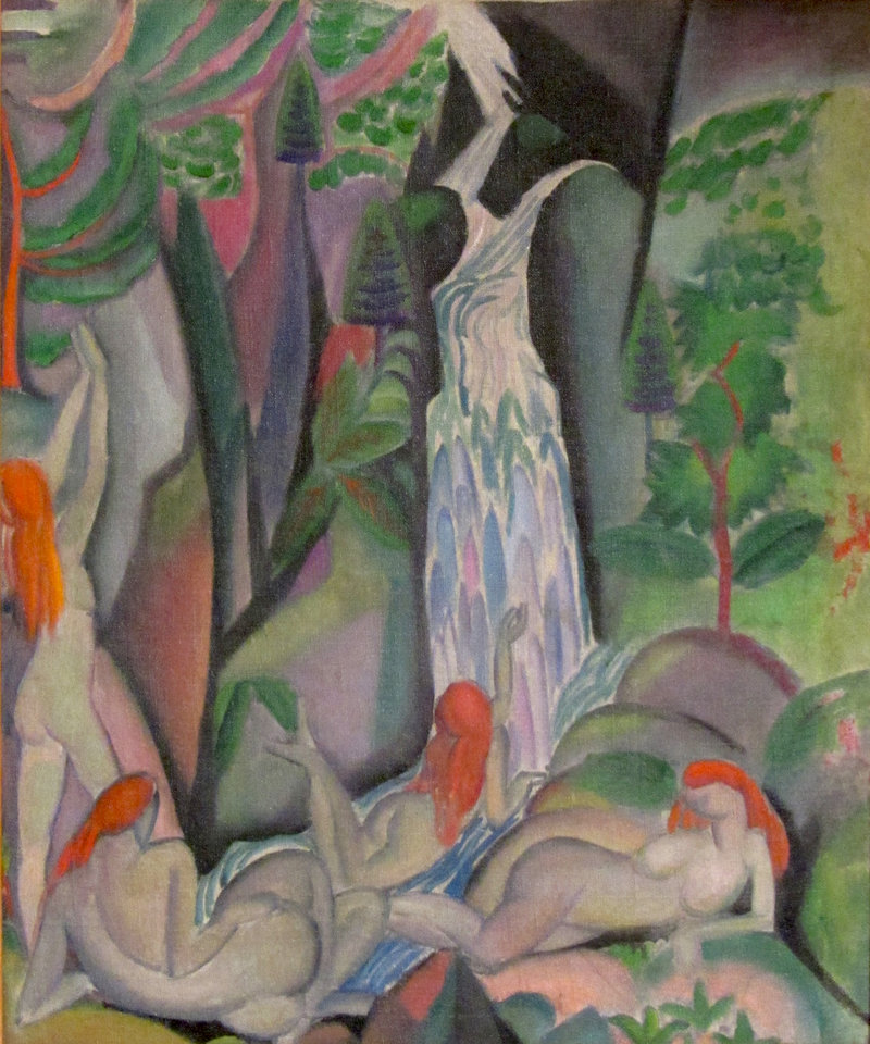 """Bathers"" by Marguerite Zorach, 1913-14, oil on canvas."