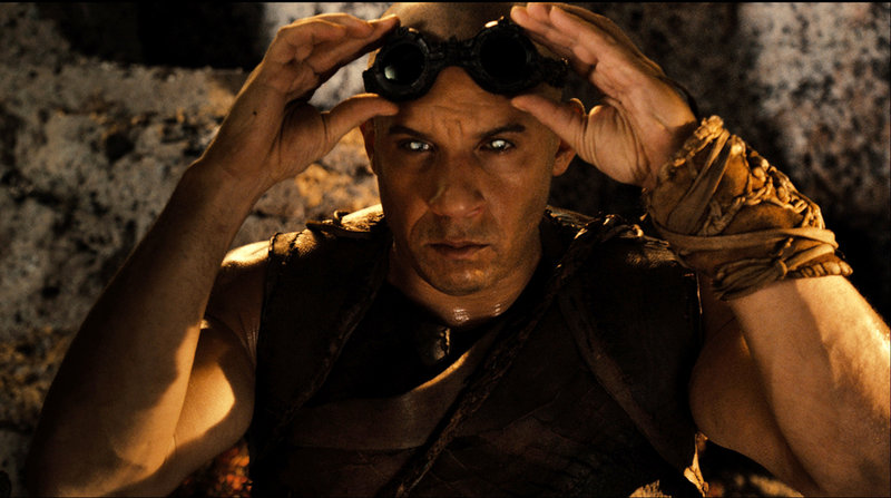 "Vin Diesel returns to play the title character in new adventures of ""Riddick."""