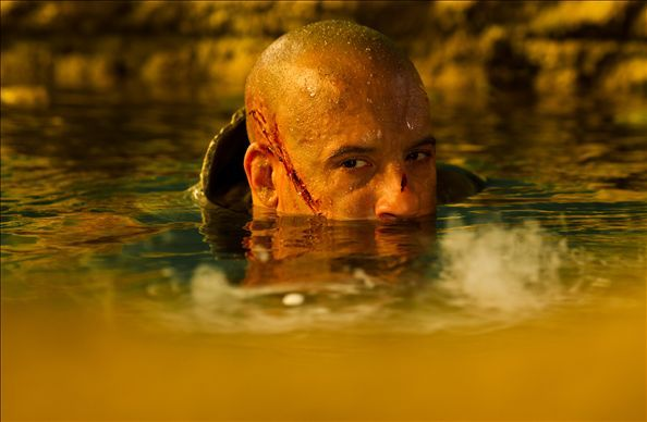"Vin Diesel is up to his neck in hot water in ""Riddick."""