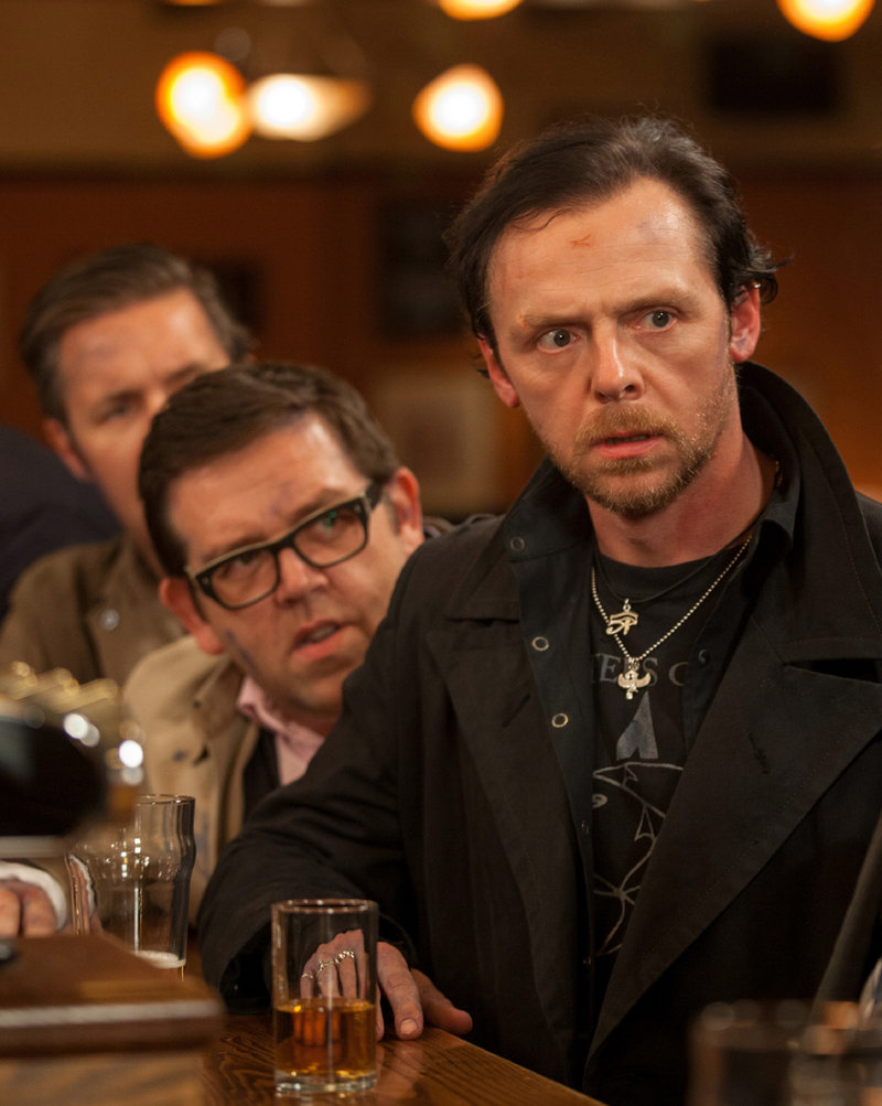 "Nick Frost, left, and Simon Pegg in ""The World's End."""