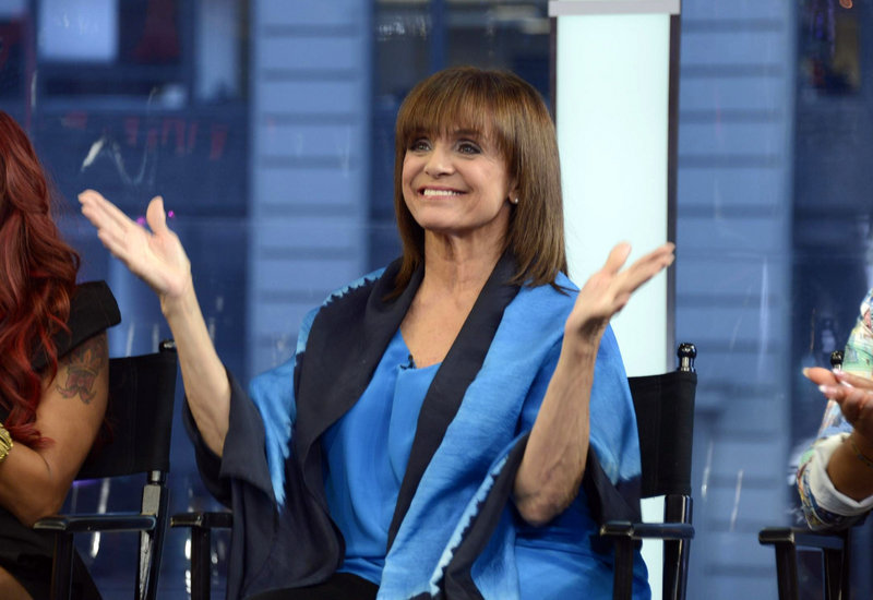 "Valerie Harper, 74, appears on ""Good Morning America"" in this May 2014 photo. She remained hospitalized Thursday morning but was"