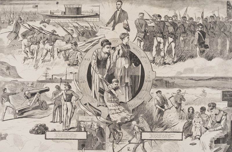 """1860-1870,"" from Harper's Weekly, January 8, 1870, a gift of Peggy and Harold Osher."