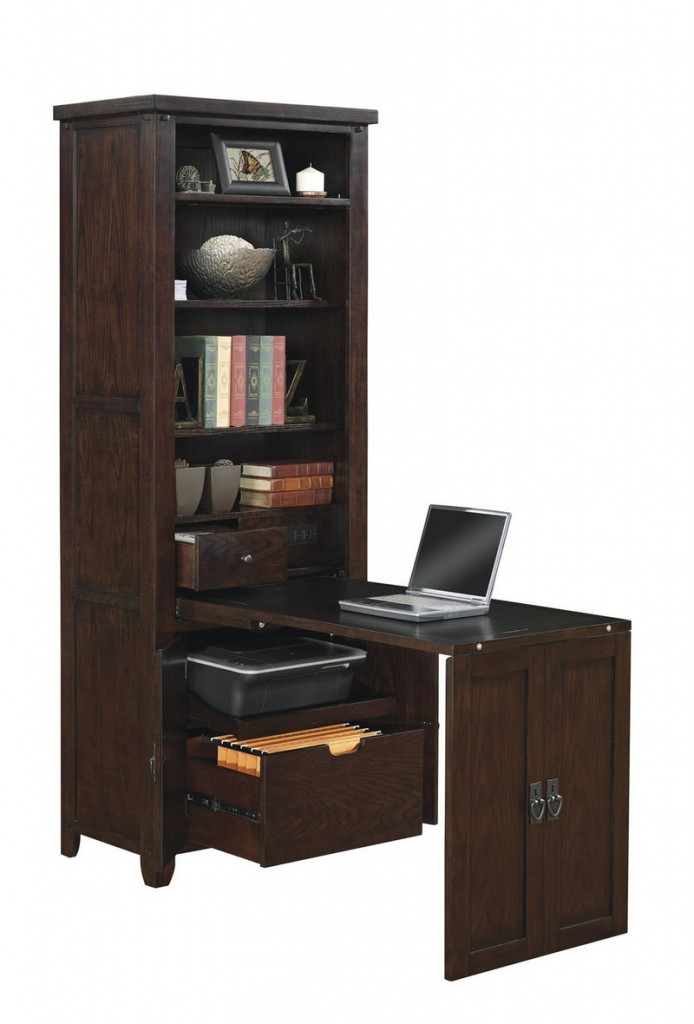 "This ""Murphy desk,"" which slides out from bookshelves, is fromTwin StarInternational."