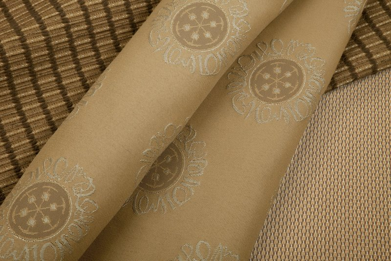 Chella Textile's Facet, Medallion and Quicksilver outdoor fabrics are woven with metallic yarns for a hint of glitz. The polyolefin fabrics are made from recycled materials and can be used both indoors and out.