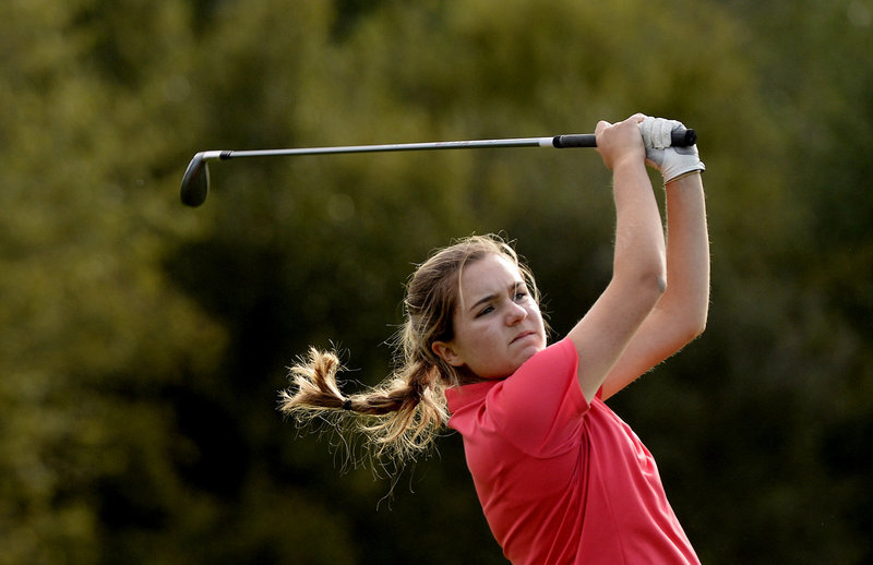 Grace King used to spend her autumns playing soccer, but decided that golf's the sport she'll pursue the most seriously, and that's fine with Coach Greg Baker.