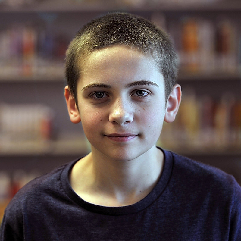 Anthony Troiano, 12, a seventh-grade student of Karen MacDonald, tells why he likes his teacher.