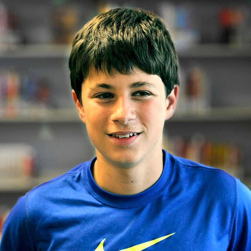 Joe Harrington, 13, a seventh-grade student of Karen MacDonald, tells why he likes his teacher.