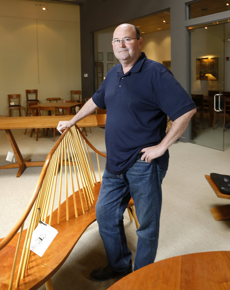 Aaron Moser, director of Moser Contract, a division of Thos. Moser Cabinetmakers, works on projects that take years to develop, while forming long-term relationships with customers.