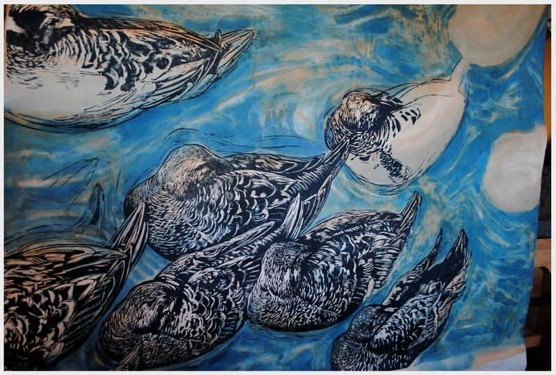 """I want to be true to these creatures,"" says R. Keith Rendall of his subjects, including ""King Eiders."""