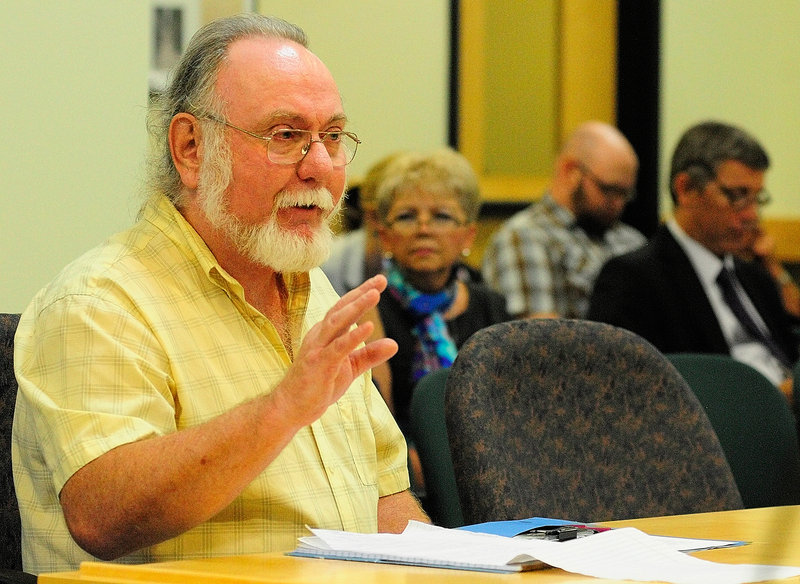 Jim Betts, a retired state Department of Labor employee, testifies during Thursday's hearing.