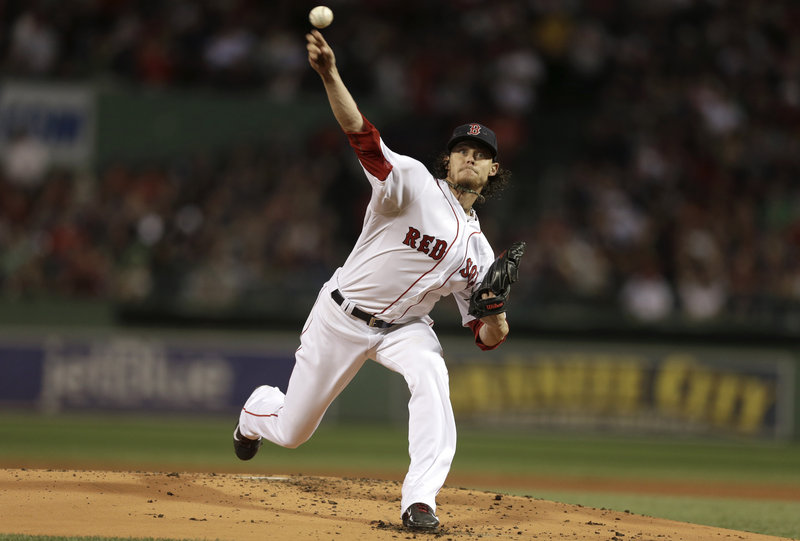 Clay Buchholz was a little wild at times, but he allowed just two hits in six innings as the Red Sox beat the New York Yankees 9-2 at Fenway Park on Sunday night. Buchholz is now 11-0.