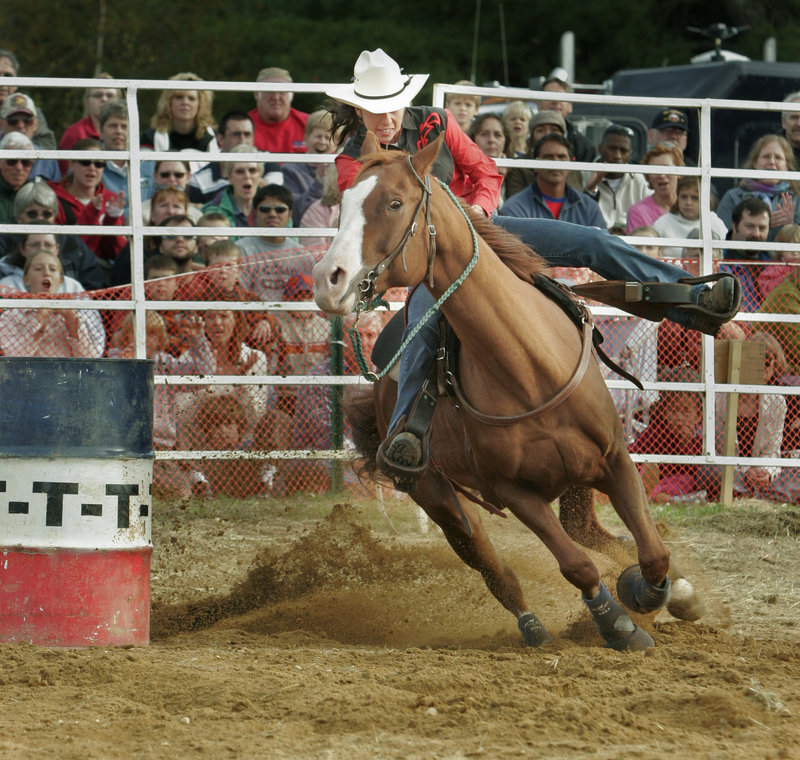 The fair features a daily rodeo and harness racing along with the usual lineup of livestock contests and demonstrations and that fine fair food.