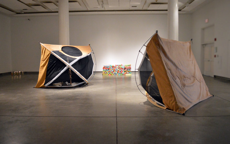 Gina Adams' tent installation.