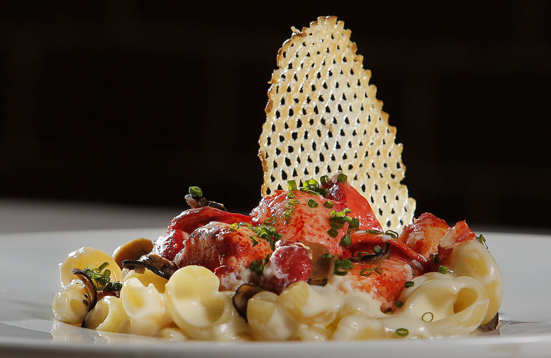 Chef Steve Corry's lobster macaroni and cheese first appeared on the menu at Five Fifty-Five in 2004 and has become one of the restaurant's signature dishes.