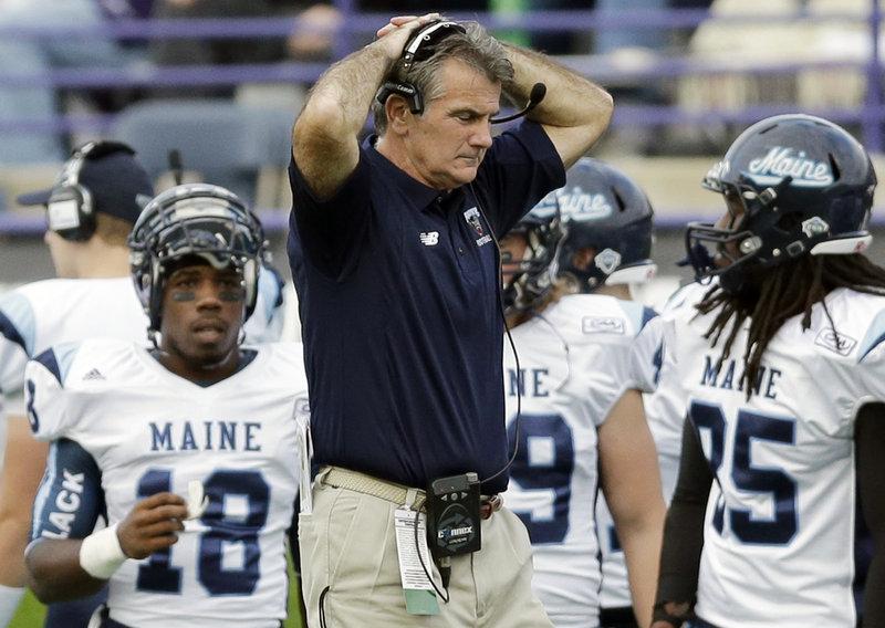 Jack Cosgrove kept his team within reach, but UMaine's coach also watched his team allow two defensive touchdowns to the Wildcats.