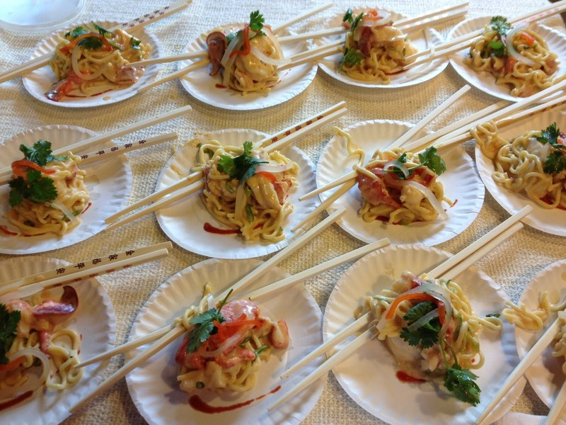 Chef Charles Doherty of Trackside Station in Rockland favors Morgan cheese for his spin on the dish, Thai My Lobster.