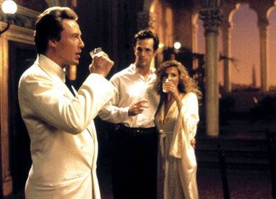 "Christopher Walken, left, Rupert Everett and Natasha Richardson in ""The Comfort of Strangers,"" which one wouldn't necessarily think would belong on a list of scary movies, but …"