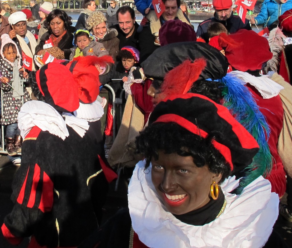 """In the Netherlands, people dress up as """"Zwarte Piet"""" or """"Black Pete,"""" representing St. Nicholas' helpers during the holiday. Critics, however, say the practice is offensive."""