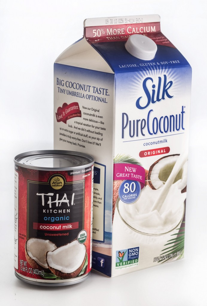 Refrigerated coconut milk is coconut cream plus water. It may be fortified with calcium and vitamins and is available sweetened, unsweetened or flavored.