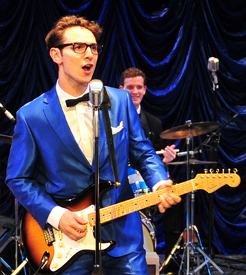 "Kurt Jenkins in the title role in the Ogunquit Playhouse production of ""Buddy: The Buddy Holly Story."""