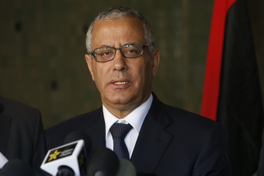 Libyan Prime Minister Ali Zidan speaks to the media during a press conference in Rabat, Morocco, on Tuesday. Zidan was snatched by gunmen before dawn Thursday from a Tripoli hotel where he resides, the government said.