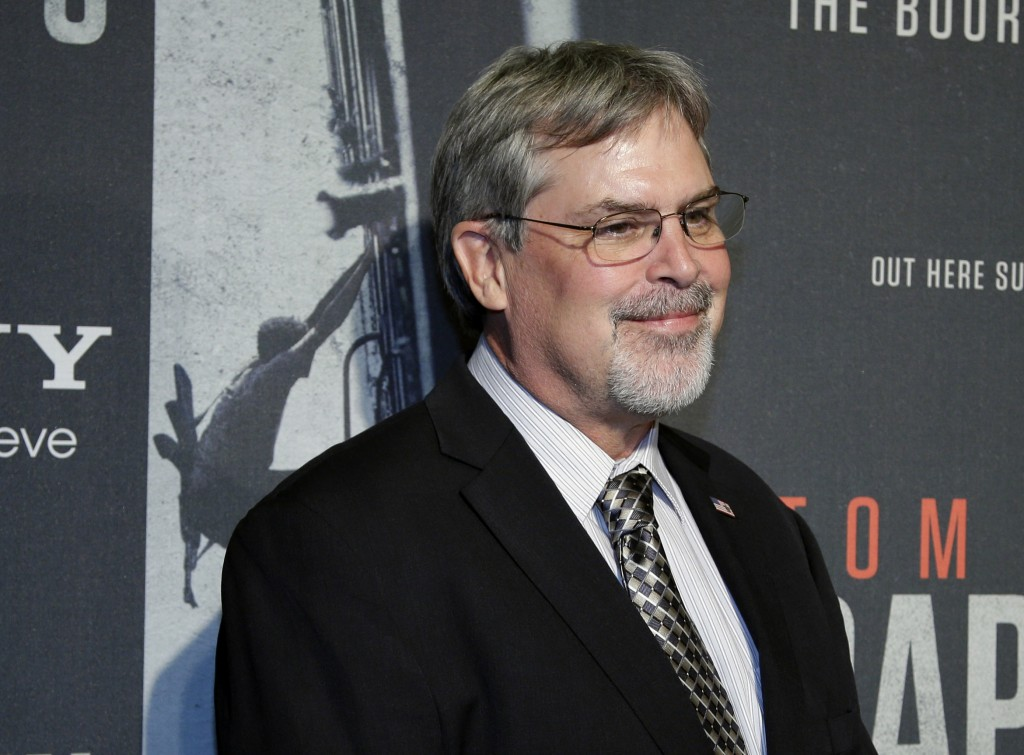 "In this Oct. 2, 2013, photo, Capt. Richard Phillips, arrives for the screening of ""Captain Phillips"" at the Newseum in Washington."