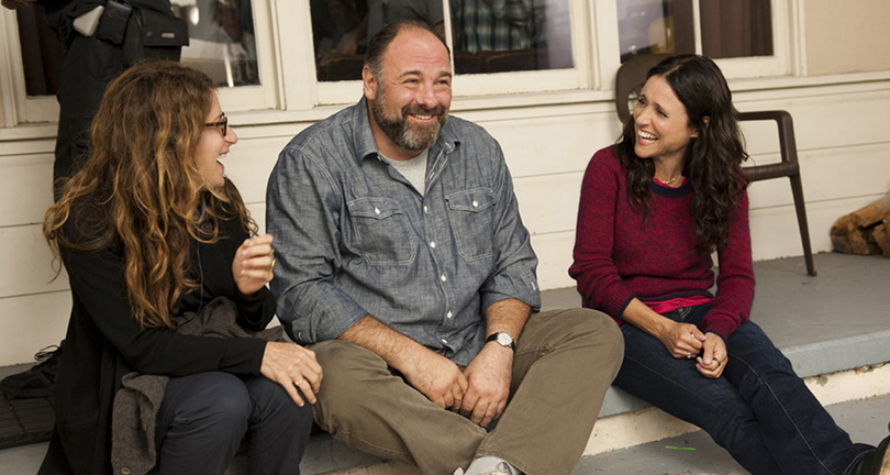 James Gandolfini, center, and Julia Louis-Dreyfus, right, in
