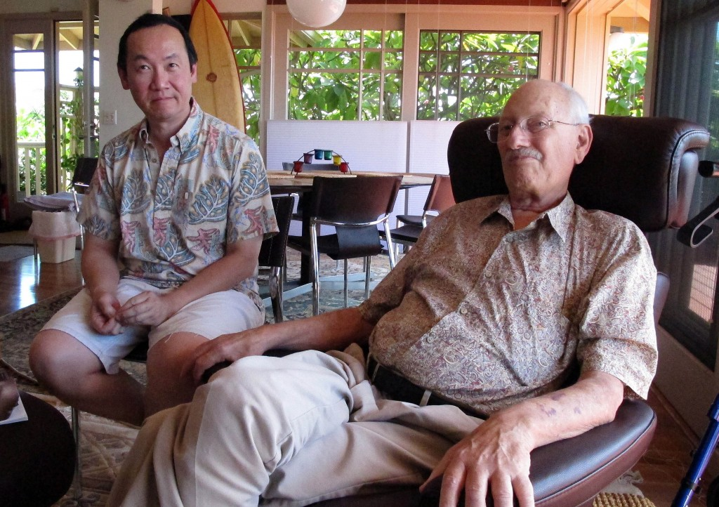 """Partners Tom Humphreys, right, and Dr. Allan Wang share a home in Honolulu. """"It's unfair that our amazing relationship – which we've been together over 33 years – our amazing relationship cannot be acknowledged,"""" Wang said."""