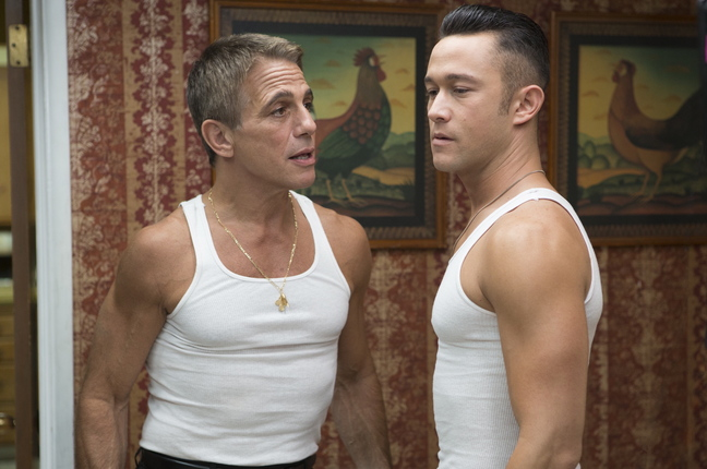 "Tony Danza, left, and Joseph Gordon-Levitt in ""Don Jon."""