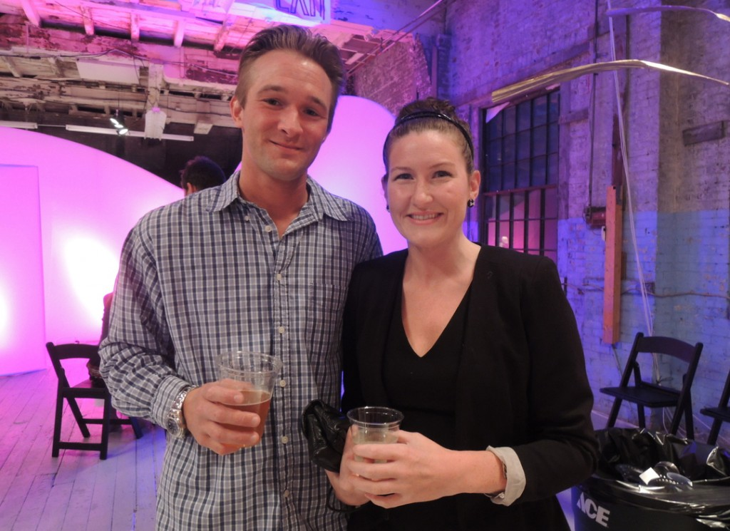 Josh Perry of Raymond and Katrina Desjardins of Old Orchard Beach at Portland Ovations' POP fundraiser.