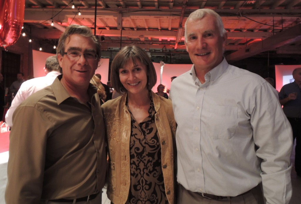 Nat Thompson of Scarborough, Nancy Litrocampes of Westbrook and Kevin Carley of Portland at the recent fundraiser.