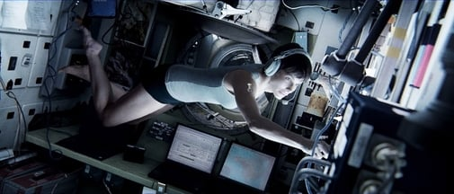 "This publicity photo released by Warner Bros. Pictures shows Sandra Bullock, left, as Dr. Ryan Stone in ""Gravity."