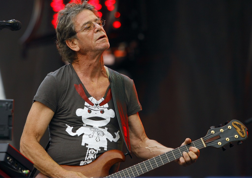 In this August 2009 file photo, Lou Reed performs at the Lollapalooza music festival, in Chicago. Punk-poet, rock legend Lou Reed died of a liver-related ailment, his literary agent said Sunday. He was 71.
