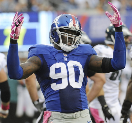 Jason Pierre-Paul of the New York Giants looked sharp Monday night – a constant fixture in the Minnesota Vikings' backfield.