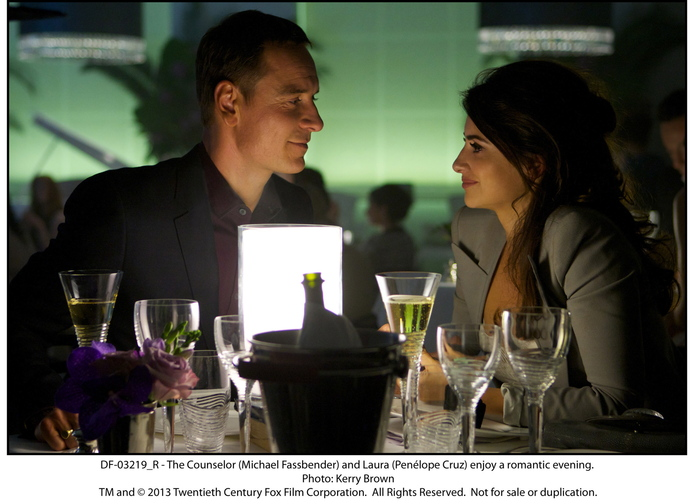 """Michael Fassbender and Penelope Cruz in """"The Counselor."""""""