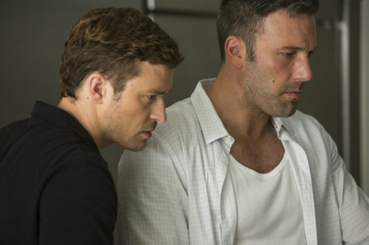 Justin Timberlake, left, and Ben Affleck in