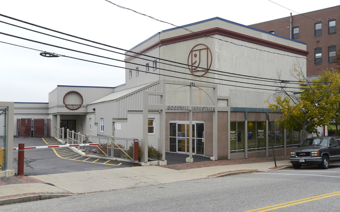 The Goodwill building at 353 Cumberland Ave. in Portland is seen as an ideal site for school district use.