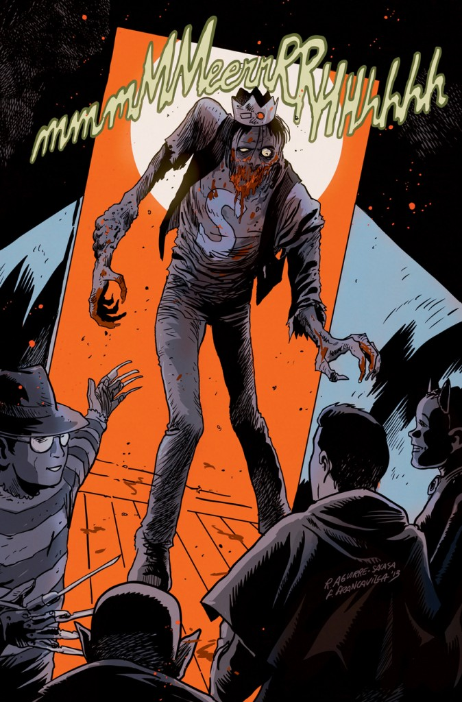 "This image released by Archie Comics shows the character Jughead from""Afterlife With Archie,"" a series debuting Wednesday. The series written by Roberto Aguirre-Sacasa and illustrated by Francesco Francavilla sees Archie, Betty, Jughead, Veronica and others, including Sabrina the Teenage Witch, enveloped in a panoply of incantations, elder gods, the undead and zombies, too."