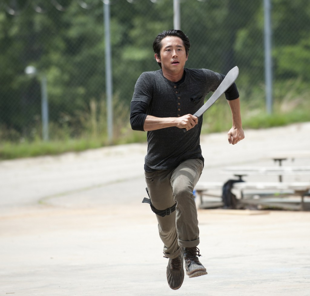 Steven Yeun as Glenn, whose days may be numbered ... or not, depending on the whim of director Robert Kirkman.