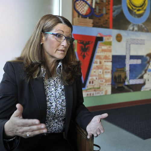"Barbara Poppe, executive director of the U.S. Interagency Council on Homelessness, at Portland's Kreisler Teen Shelter, says Portland has ""a serious situation"" with homelessness."