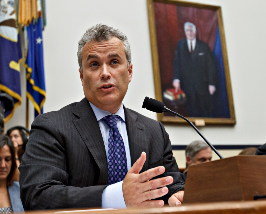 Jeffrey Zients testifies on Capitol Hill in Washington in this 2012 photo. President Obama says Zients will assist a team that is said to be working around the clock on the HealthCare.gov website.
