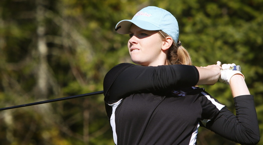 Bailey Plourde, a freshman at Lincoln Academy, shot a 76 to tie for top honors in the schoolgirl tournament with Jenna Hallett of Presque Isle.