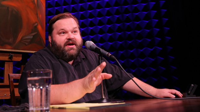 "Storyteller Mike Daisey performs his ""All the Faces of the Moon,"" a two-hour monologue, at The Public Theater in New York. Daisey embellished facts in a January 2012 broadcast of National Public Radio's ""This American Life."" Apologizing, he told the show's host: ""It's not journalism. It's theater."""