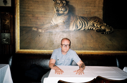 """At its best, music is absolutely present,"" says Mike Doughty. ""I know I'm in danger of sounding super New-Agey here, but I believe in the cosmic notion of the song."""