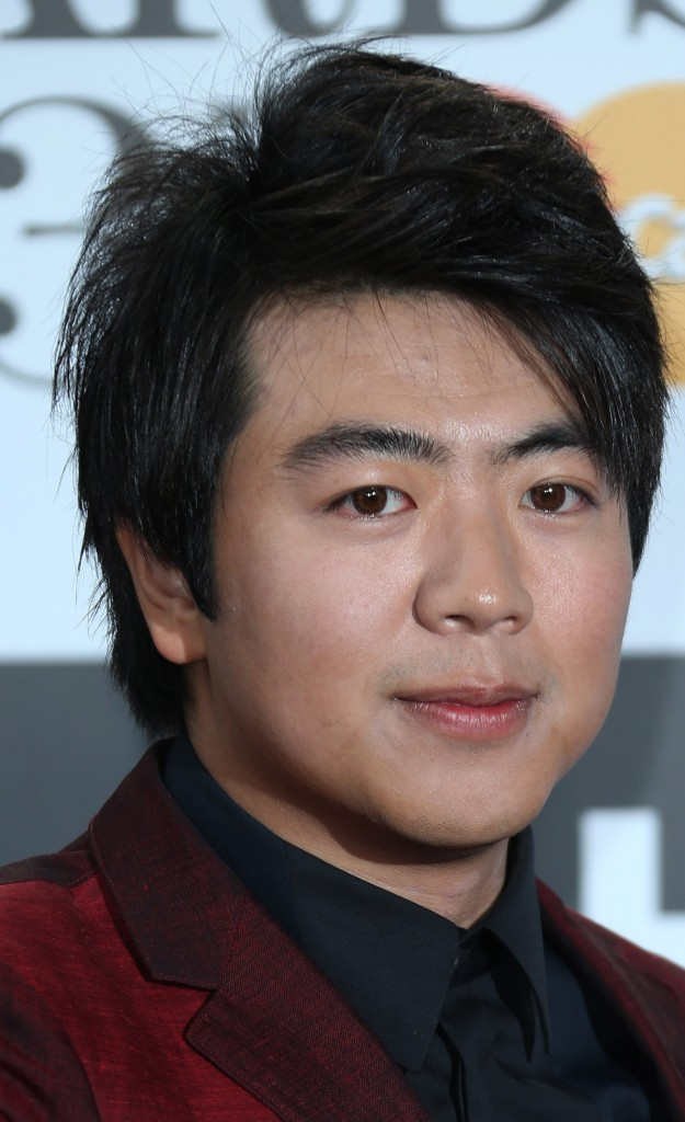 Chinese concert pianist Lang Lang arrives for the Classic BRIT Awards at the Royal Albert Hall in London.