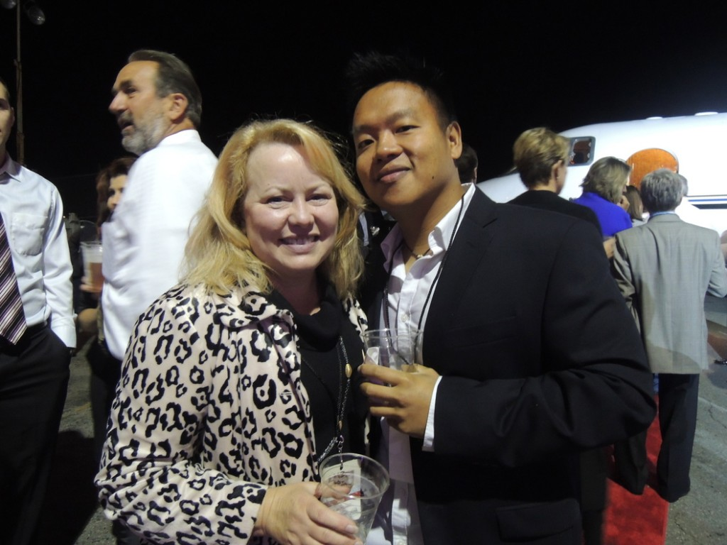 Cindy Olsen of Yarmouth and Khanh Le of Portland were ready to jet off to New York at a moment's notice.