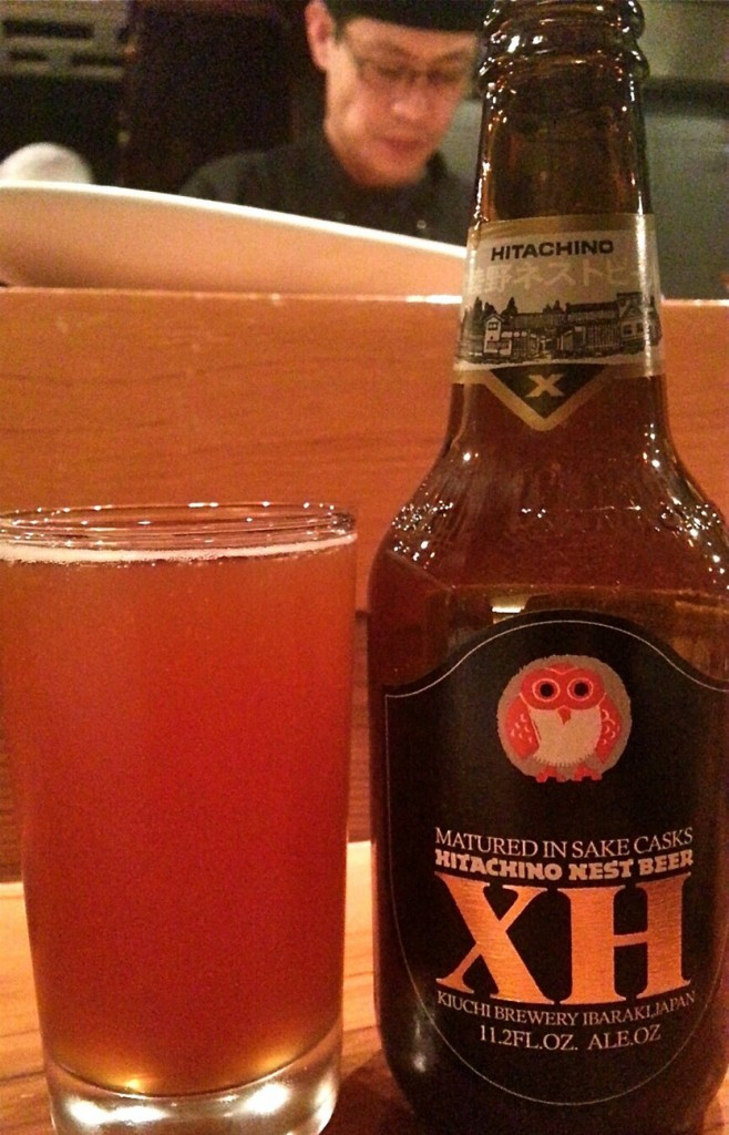 Japanese-made Hitachino XH Sake Cask Ale ($7.50) is as distinctive as Miyake's menu.
